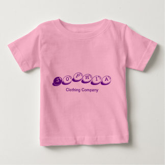 Camisa de Sophia Roupa Empresa para miúdos e bebês Tshirts