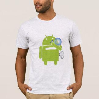 Camisa de sopro das bolhas do Android