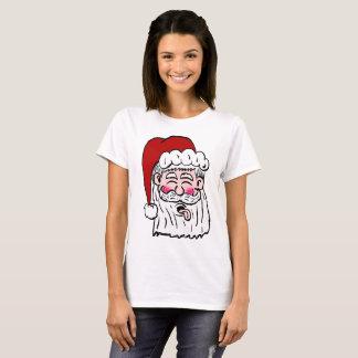 Camisa de sopro do papai noel da framboesa
