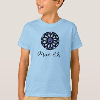 Camisa de sorriso da flor de Matilda