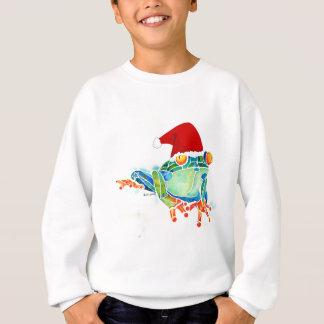 Camisa de suor do sapo de árvore do Natal