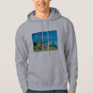 Camisa de suor encapuçado dos homens de Wyoming
