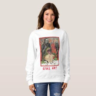 Camisa de suor original da arte do crânio da arte