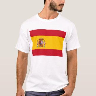 Camisa de T com a bandeira da espanha