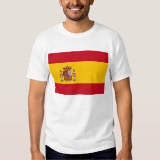 Camisa de T com a bandeira da espanha Camiseta