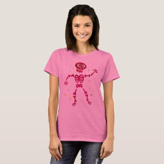 Camisa de T com esqueleto