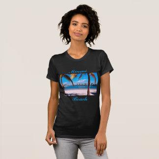 Camisa de T com Miami Beach