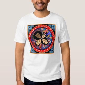 Camisa de T dos gatos da BANDEIRA BRANCA Camisetas