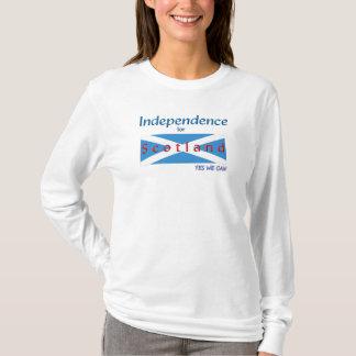 Camisa de T sim nós podemos independência para