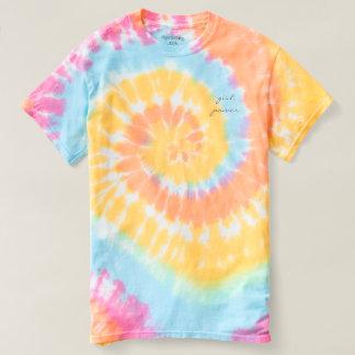Camisa de TieDye do poder da menina