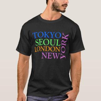Camisa de Tokyo Seoul Londres New York T