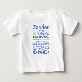 Camisa de um ano personalizada do primeiro