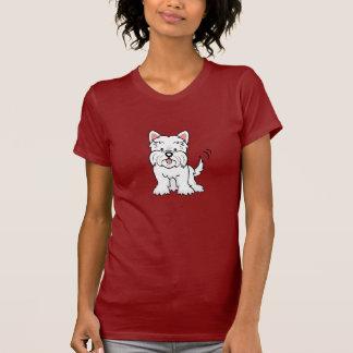 Camisa de Westie T dos desenhos animados