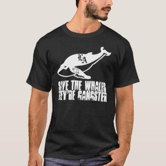 Camisa decapitado das baleias do gângster das