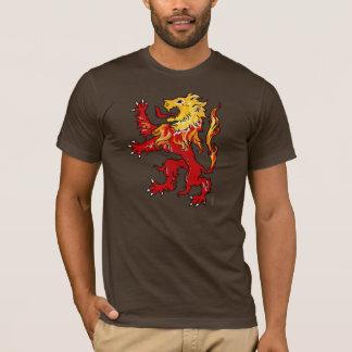 Camisa desenfreado do leão impetuoso (escura)