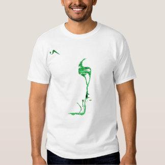 Camisa destruída de U Seet cetim verde T Camiseta