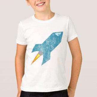 Camisa desvanecida de Rocket retro