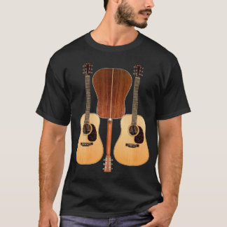 Camisa dianteira e traseira da guitarra acústica
