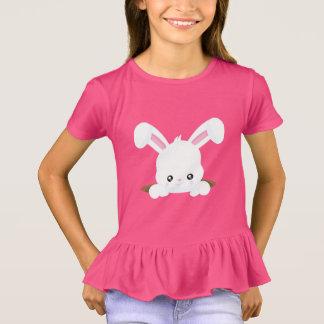 Camisa dianteira e traseira do coelhinho da Páscoa