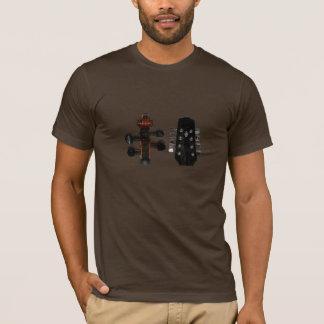 Camisa dianteira & traseira do violino & do