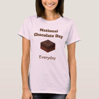 Camisa diária do dia nacional do chocolate