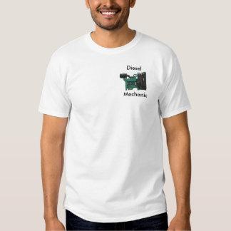 Camisa diesel do mecânico T Camiseta