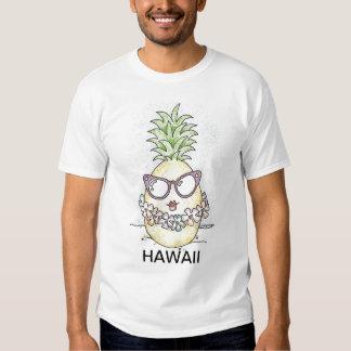 Camisa do abacaxi T dos desenhos animados de Havaí Camisetas