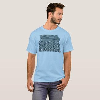 Camisa do algoritmo da corrente 06 da arte Op