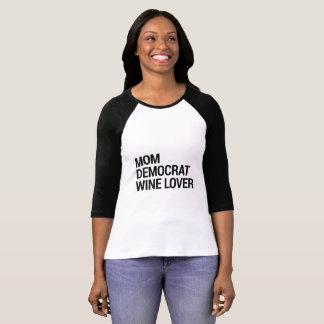 Camisa do amante de vinho de Democrata da mamã
