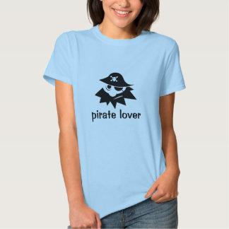 Camisa do amante do pirata camiseta