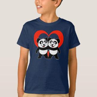Camisa do amor da panda
