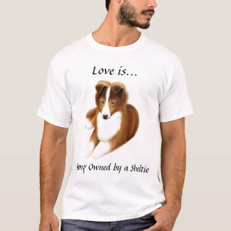 Camisa do amor de Sheltie do Sheepdog de Shetland