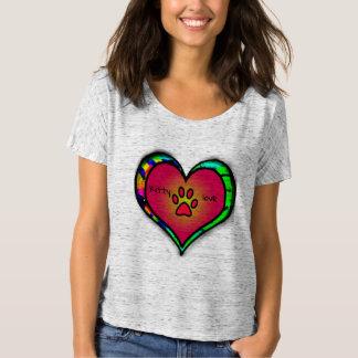 Camisa do amor do gatinho