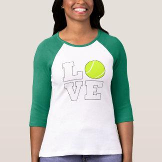 Camisa do amor do tênis para o jogador de ténis e