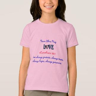 Camisa do amor t dos miúdos