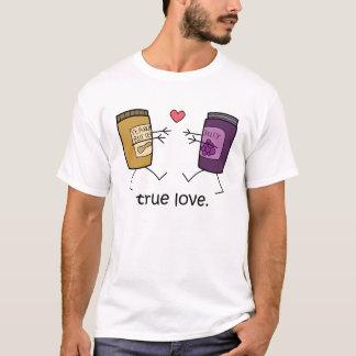 """Camisa do amor verdadeiro"""" da manteiga e da geléia"""