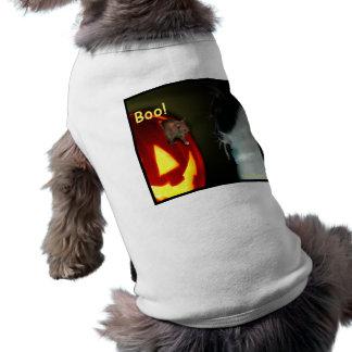 Camisa do animal de estimação do Dia das Bruxas do Camisa Sem Mangas Para Cachorro