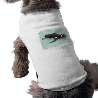Camisa do animal de estimação do pinguim da nataçã camisas para caes