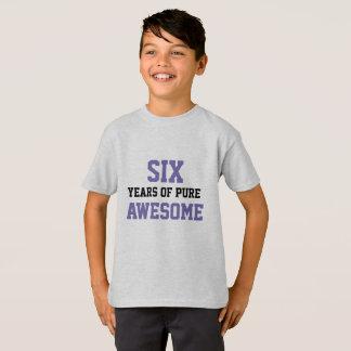 Camisa do aniversário da criança de 6 anos