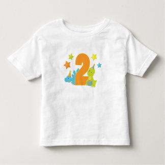 Camisa do aniversário da criança de dois anos dos