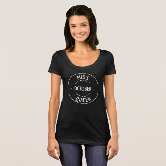 Camisa do aniversário da mulher de outubro