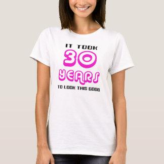 Camisa do aniversário de 30 anos