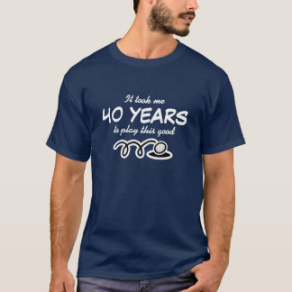 Camisa do aniversário de 40 anos para o humor
