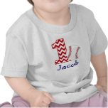 Camisa do aniversário do basebol customizável prim tshirts