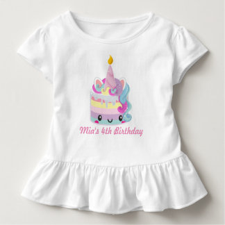 Camisa do aniversário do unicórnio