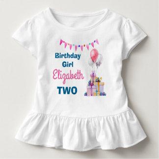 Camisa do aniversário dos balões dos presentes de