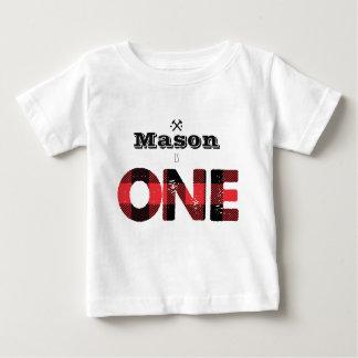Camisa do aniversário dos meninos da flanela do