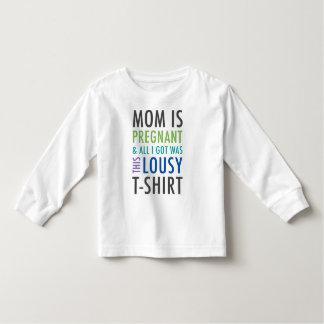 Camisa do anúncio da gravidez para miúdos