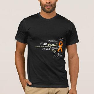 Camisa do apoio da leucemia e do linfoma