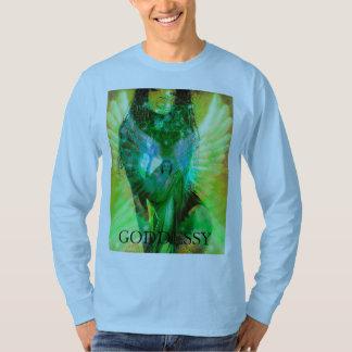 Camisa do arcanjo da deusa de Metatron pelo modelo